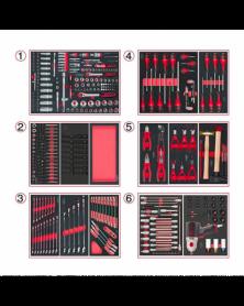 Outils pour servante, 6 compositions, 429 outils (714.0425) KS TOOLS   Mongrossisteauto.com