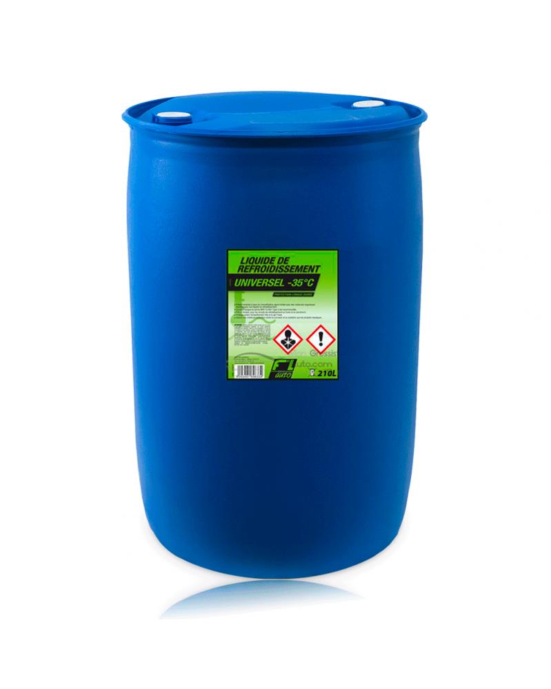 Liquide de refroidissement universel vert -35ºC - 210L - FL'AUTO   Mongrossisteauto.com