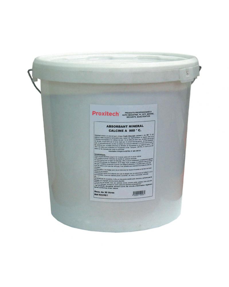 Sable absorbant minéral, seau 30 L - Proxitech   Mongrossisteauto.com