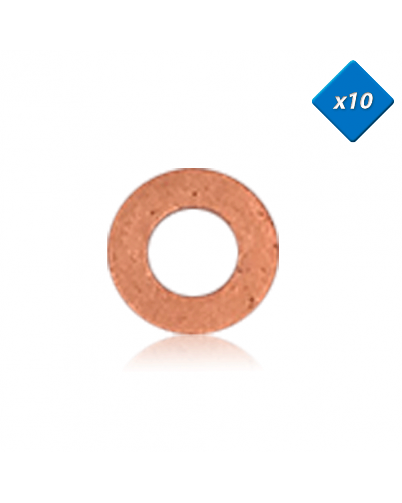 Joint cuivre injecteur, 7x13,8 - x10 - OE: 1565AH - 3RG   Mongrossisteauto.com