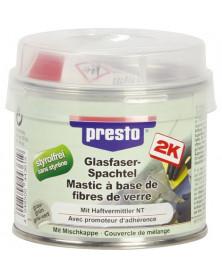 Mastic de rebouchage, (fibre verre + durcisseur) 250g - Presto | Mongrossisteauto.com
