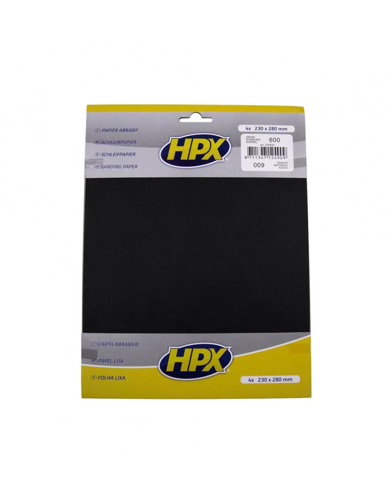 Papier abrasif carrosserie, eau P600 - HPX | Mongrossisteauto.com