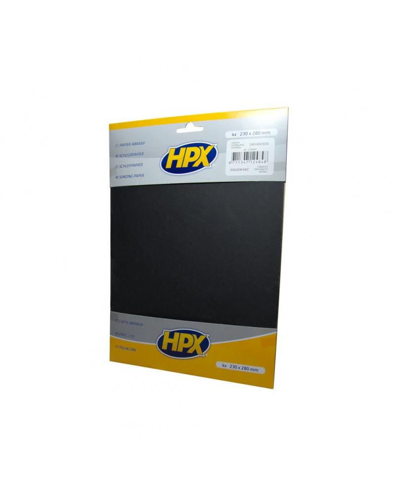 Papier abrasif carrosserie (240/400/600) - HPX   Mongrossisteauto.com