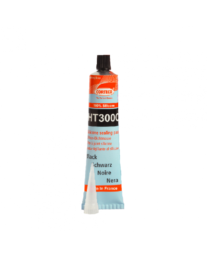 CORTECO HT300C pâte à joint silicone noir +300° 80ml | Mon Grossiste Auto