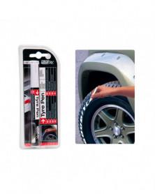 Feutre pneu, stylo peinture blanc - 5 ml