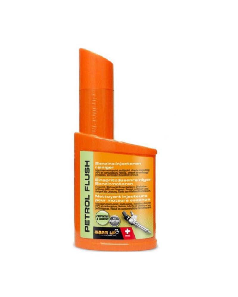 WARM UP PETROL FLUSH nettoyant injecteurs essence préventif | Mongrossisteauto.com