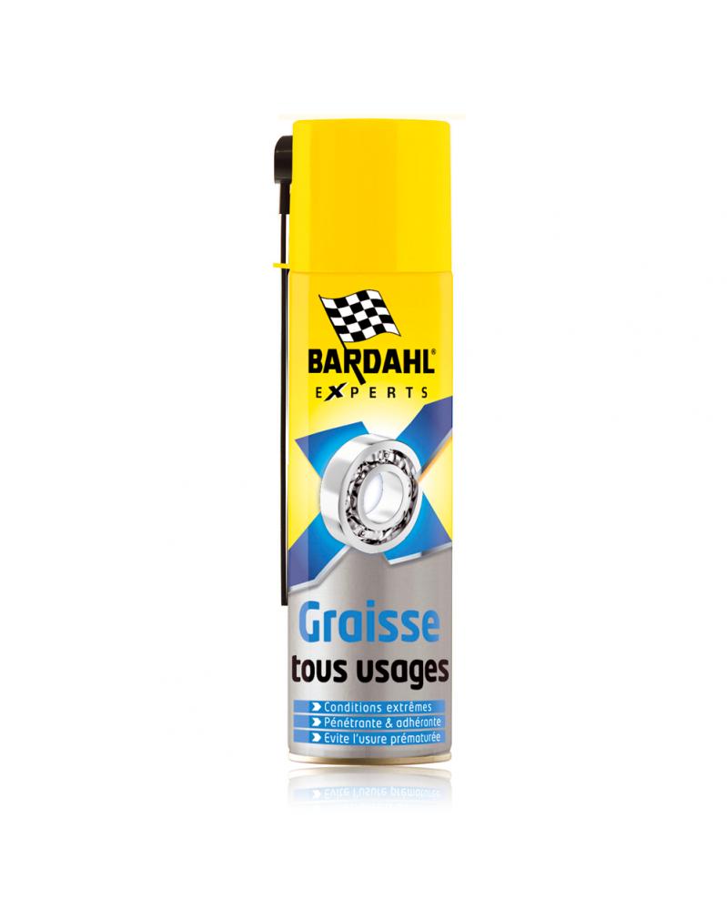 Graisse en spray tous usages Multifonctions 250 ml - Bardahl| Mongrossisteauto.com