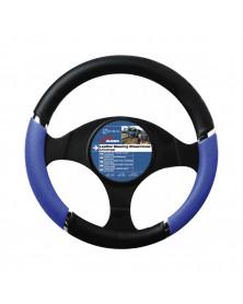 Couvre volant PVC speed bleu-noir - Car +