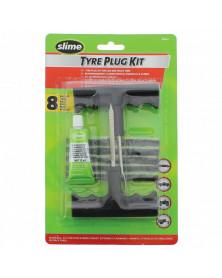 Kit réparation pneus, tubeless (8 pcs) - Slime