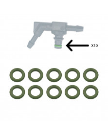 Joint vert pour connecteur de retour injecteur par lot de 10 | Mongrossisteauto.com