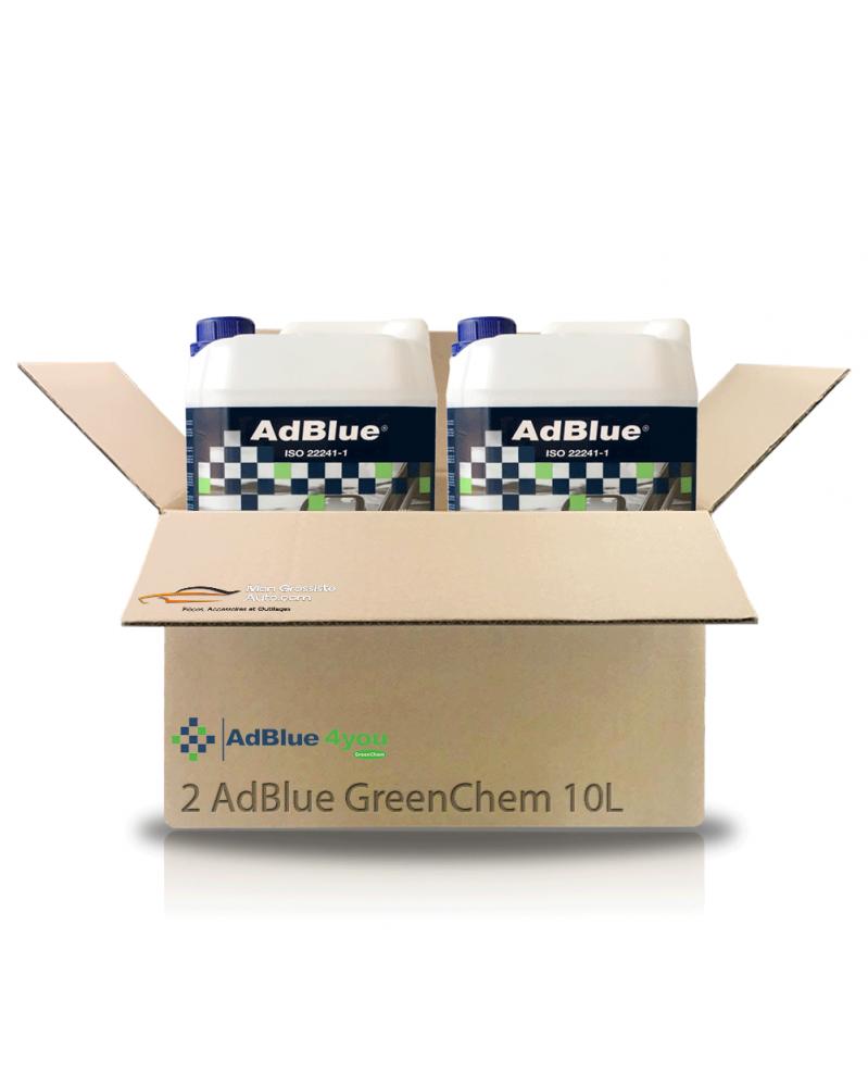 AdBlue® 2 bidons de 10L avec bec verseur - GreenChem   Mongrossisteauto.com