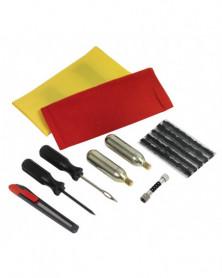 Kit de réparation de pneus Moto et Quad avec accessoires de gonflage KSTOOLS