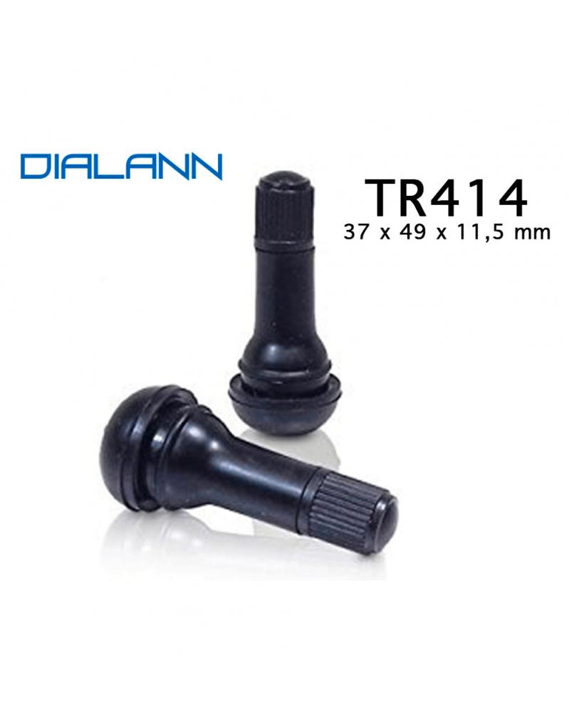 Valve pneumatique Tubeless TR414 37 x 49 x 11,5mm   mongrossisteauto.com