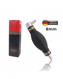 Pompette entrée coudée Poire d'amorcage Caburant 8mm à clapet Durer - Pompettes et Poires d'amorçage - Mon Grossiste Auto