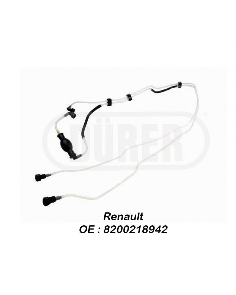 Kit poire d'amorcage avec tuyauterie de carburant Durer 1.5 DCI : RENAULT Clio II, Kangoo - Pompettes et Poires d'amorçage - [
