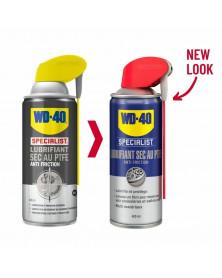 nouveau packaging Lubrifiant Sec au PTFE Spécialist 400ml - WD40 | mongrossisteauto.com