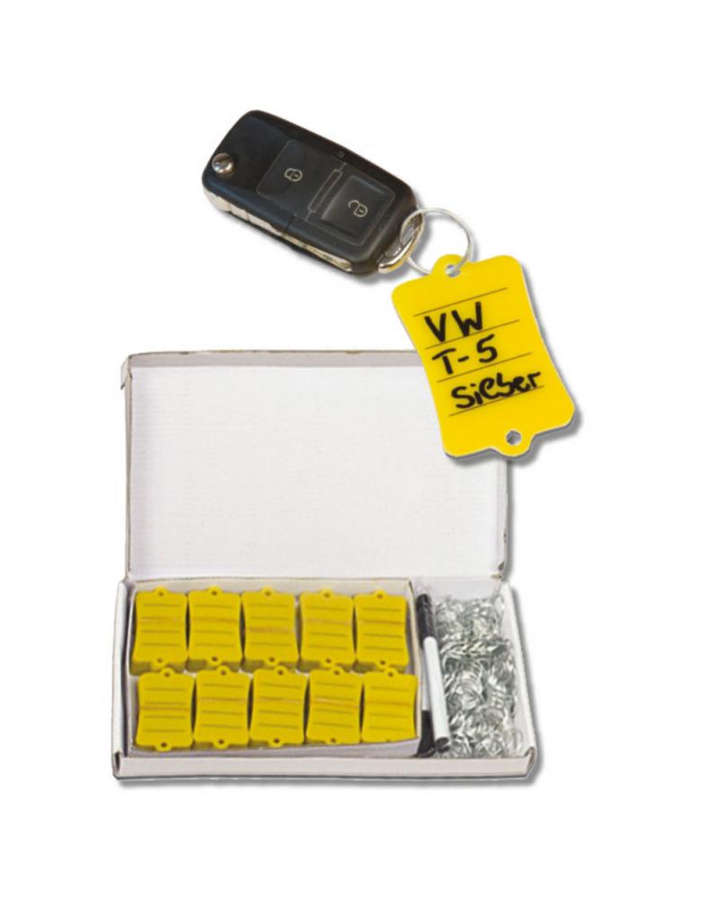 Kit atelier, porte-clés jaune x200 - Proxitech | Mongrossisteauto.com