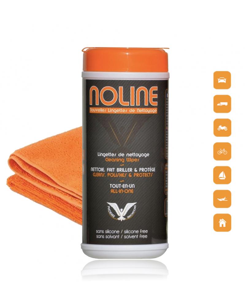 NoLine Pack 30 lingettes + microfibre prémium offerte - lingettes sans eau - Mon Grossiste Auto