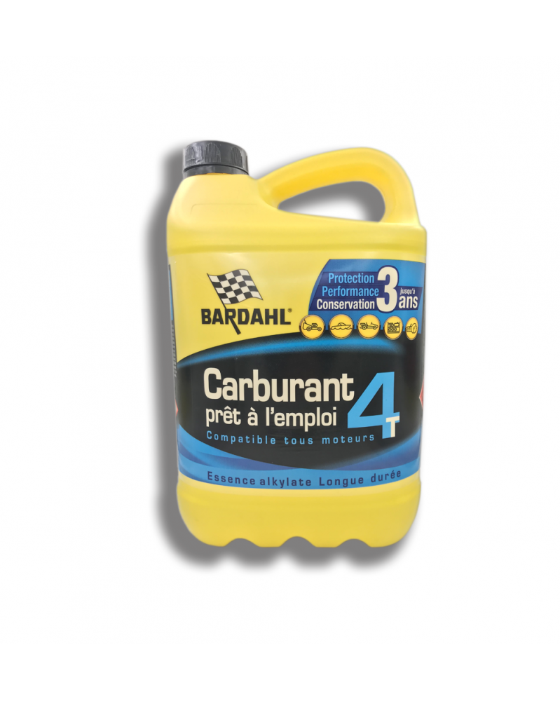 Carburant prêt à l'emploi 4 temps compatible tous moteurs 5L - Bardahl   Mongrossisteauto.com