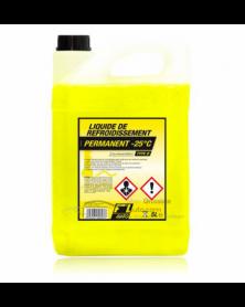 Liquide de refroidissement jaune fluo -25° 5L | Mongrossisteauto.com