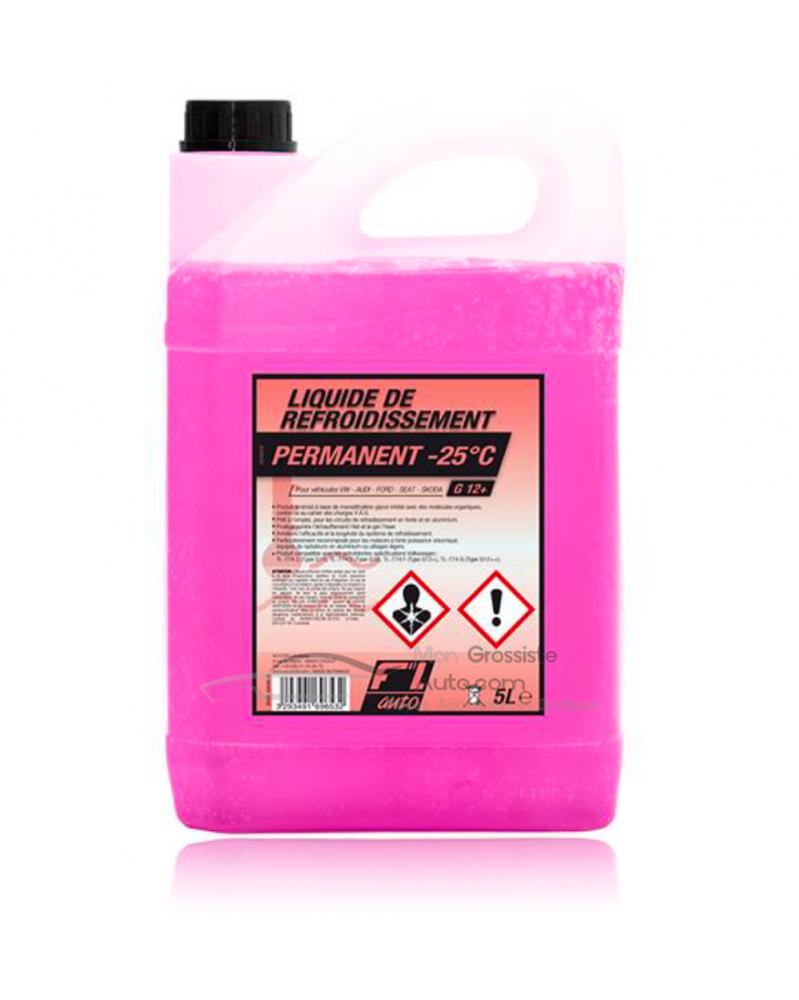 Liquide de refroidissement G12 (rose) 5L - FL'AUTO   Mongrossisteauto.com