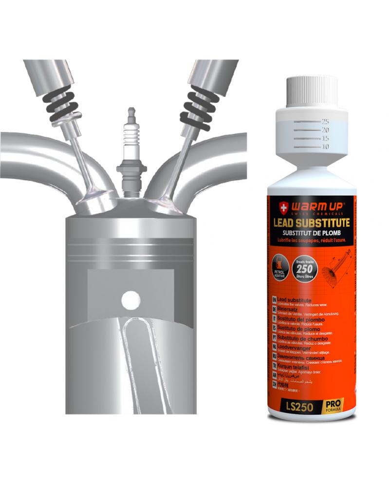 Substitut de plomb, additif pour essence Lead Substitute 250ml - Warm Up   Mongrossisteauto.com