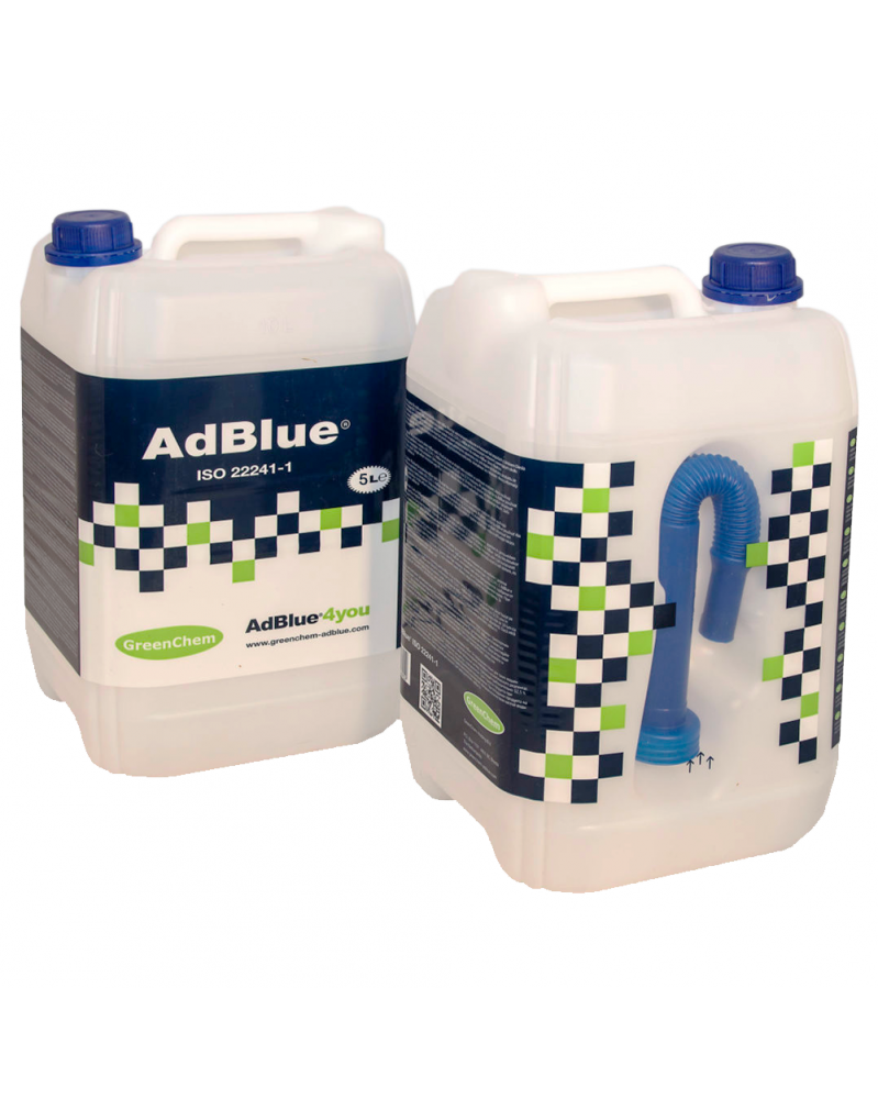 AdBlue® 5L, bidon, iso 22241- GreenChem | Mongrossisteauto.com