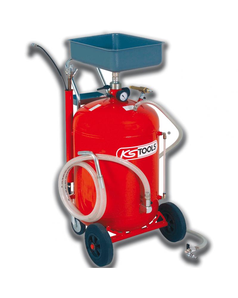 Récupérateur d'huile par gravité et aspiration 90 L KS TOOLS | Mongrossisteauto.com