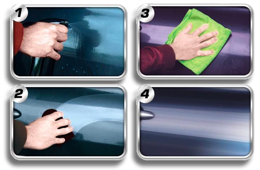 Utilisation du kit décontaminant voiture, peinture, chimique de GS27