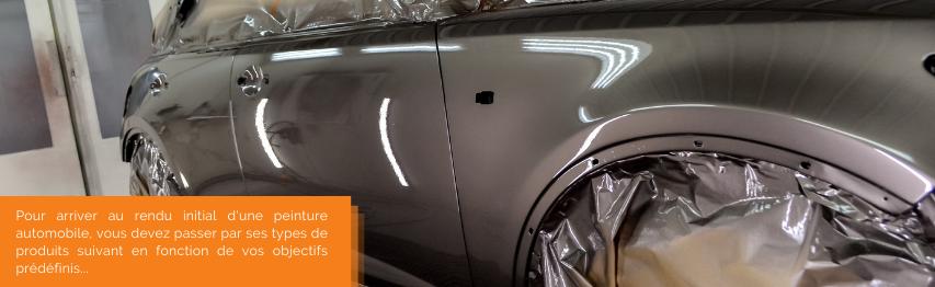 Pour arriver au rendu initial d'une peinture automobile, vous devez passer par ses types de produits suivant en fonction de vos objectifs prédéfinis...   Mongrossisteauto.com