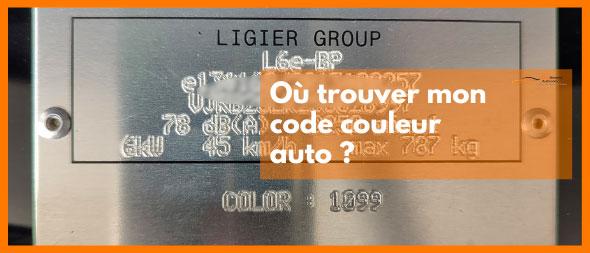 Ou trouver mon code couleur auto ?   Mongrossisteauto.com